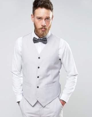 Devils Advocate Wedding Skinny Fit Pale Gray Vest
