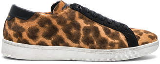 Saint Laurent Pony Hair & Suede Court Classic Sneakers