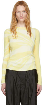 Proenza Schouler Yellow Tie-Dye Knit Sweater