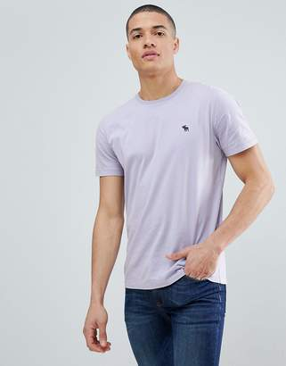 Abercrombie & Fitch Pop Icon crew neck t-shirt in lavender