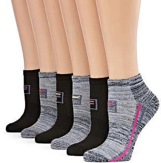 Fila Racing Stripe 6 Pair Low Cut Socks - Womens
