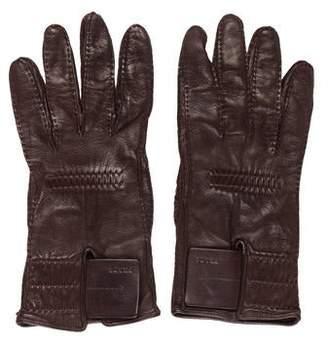 Prada Leather Velcro Gloves