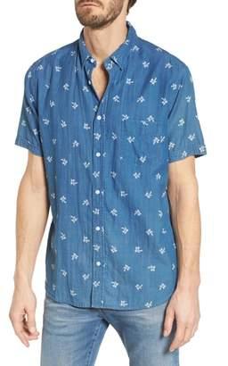 Rails Carson Slim Fit Palm Print Sport Shirt