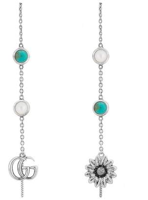 Gucci Double G flower drop earrings