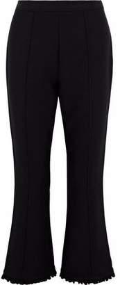 Cinq à Sept Seneca Ruffle-Trimmed Cady Kick-Flare Pants
