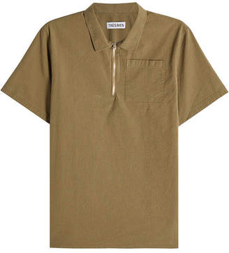 Trs Bien Cotton Top with Zipped Front