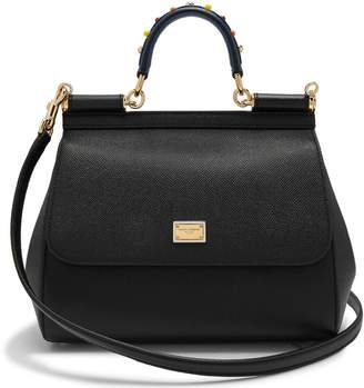 Dolce & Gabbana Sicily medium dauphine-leather bag