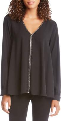 Karen Kane Sparkle Trim Top