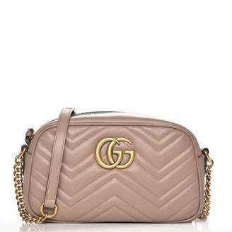 1a3ebcaf2 Gucci Marmont Camera Bag Matelasse GG Small Dusty Pink