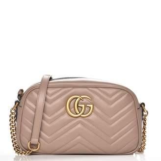 Gucci Marmont Camera Bag Matelasse GG Small Dusty Pink