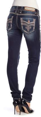 Rock Revival Topstitch Skinny Jeans