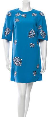 Mulberry Sequin Flower Mini Dress $395 thestylecure.com