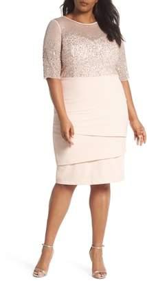 Adrianna Papell Beaded Bodice Sheath Dress