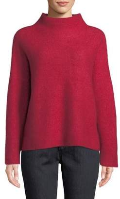 Eileen Fisher Cashmere-Blend Boat-Neck Top