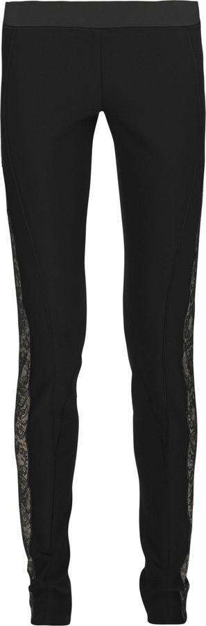 Stella McCartney Lace-trim stretch pants