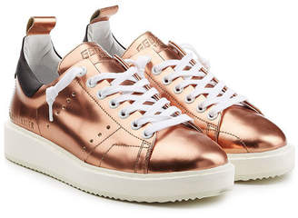 Golden Goose Metallic Leather Starter Sneakers