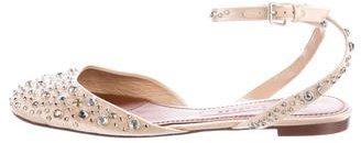Marc JacobsMarc Jacobs Embellished Satin Flats