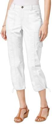 Style&Co. Style & Co. Petite Bungee-Hem Cargo Capri Pants