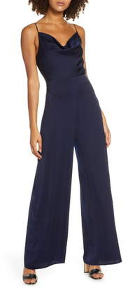 Ever New Lyla Cowl Neck Satin Jumpsuit