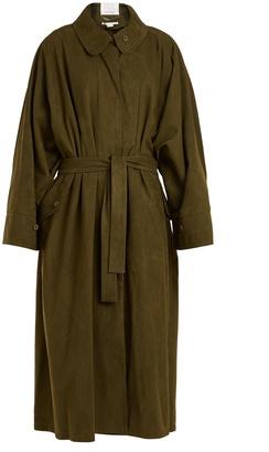 Emily tie-waist alter faux-suede coat