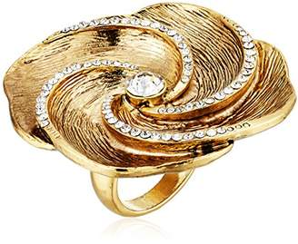 Badgley Mischka pave swirl flower ring