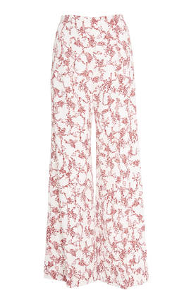 Emilia Wickstead Red Floral Trousers
