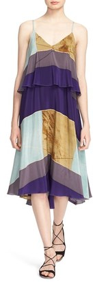 Tracy Reese Print Flared Flounce Tank Dress $398 thestylecure.com