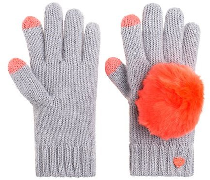 Juicy Couture Girls Pom Pom Texting Gloves
