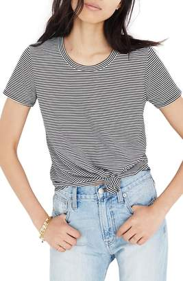 Madewell Stripe Knot Front Tee