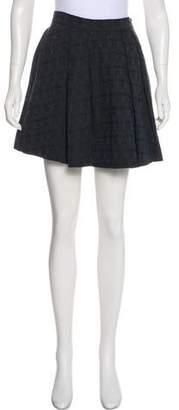 Thomas Wylde Pleated Mini Skirt