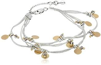 Kenneth Cole New York Delicates Shaky Disc and Faceted Bead Multi-Row Bracelet