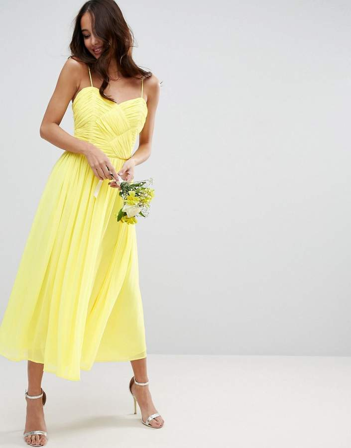 Asos ASOS WEDDING Rouched Midi Dress