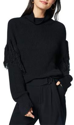 Ramy Brook Grayson Fringe Turtleneck Sweater