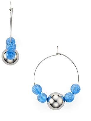 Rebecca Minkoff Matte Ball Hoop Earrings