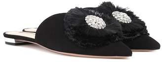 Aquazzura Lotus crystal-embellished sandals