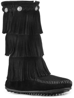 Minnetonka 3 Layer Fringe Toddler & Youth Western Boot - Girl's