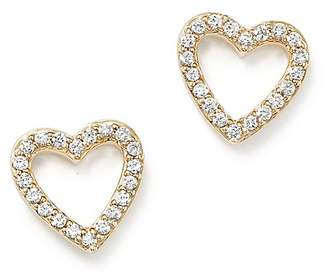 Bloomingdale's Diamond Heart Stud Earrings in 14K Yellow Gold, .20 ct. t.w. - 100% Exclusive