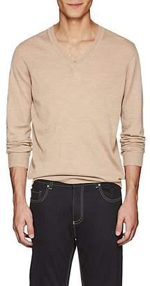 Tomas Maier Men's Mélange Wool Sweater - Beige, Tan