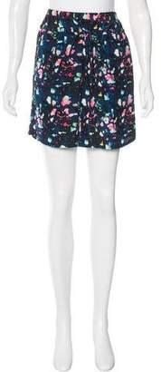 Richard Chai Abstract Print Mini Skirt