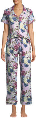 BedHead Floral Jewels Short-Sleeve Long Pajama Set