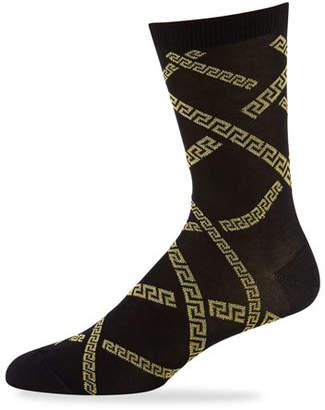 Versace Men's Greek Key Short Socks