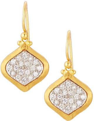 Gurhan Clove 24k Pave Diamond Small Drop Earrings