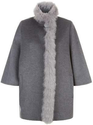 Harrods Fox Fur Trim Cape