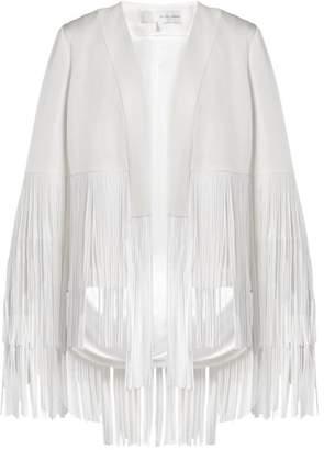 Galvan - Cortado Fringe Crepe Jacket - Womens - White