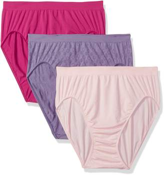 Bali Women's Comfort Revolution Seamless High-Cut Brief 3-Pack