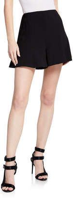 Alice + Olivia Keira High-Waist Flared Shorts