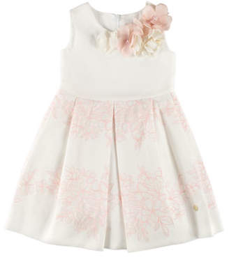 Carrera Pili Sleeveless Floral Dress, White, Size 4-10