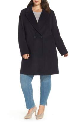 Rachel Roy Wool Blend Notch Collar Coat