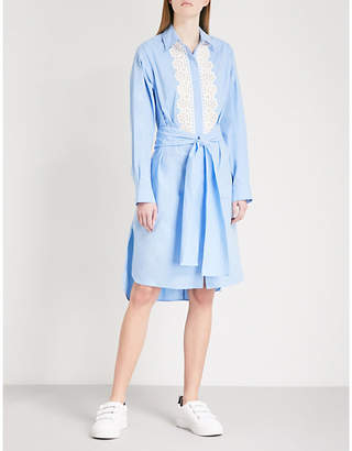 Sandro Embroidered cotton dress