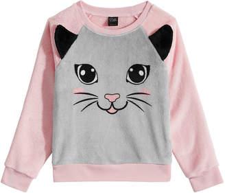 Awake Little Girls Plush Cat Sweatshirt